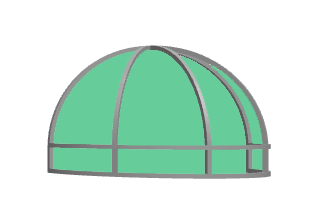 Dome awning color