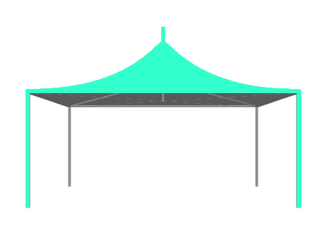 frame and pole tent