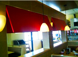indoor awning red