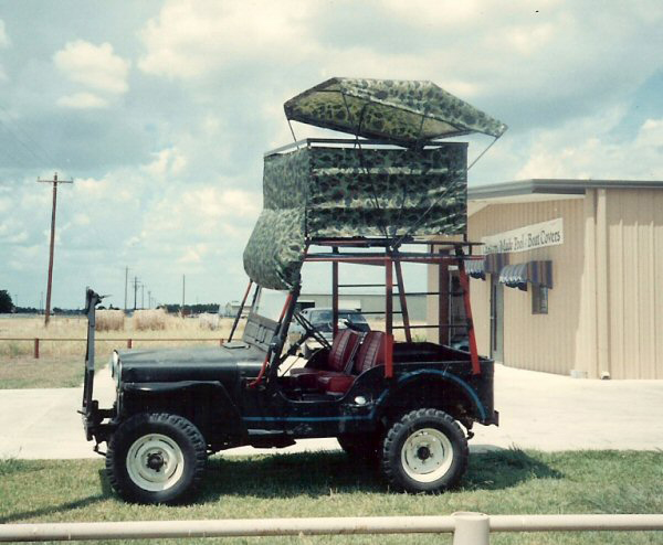 jeep deer blind