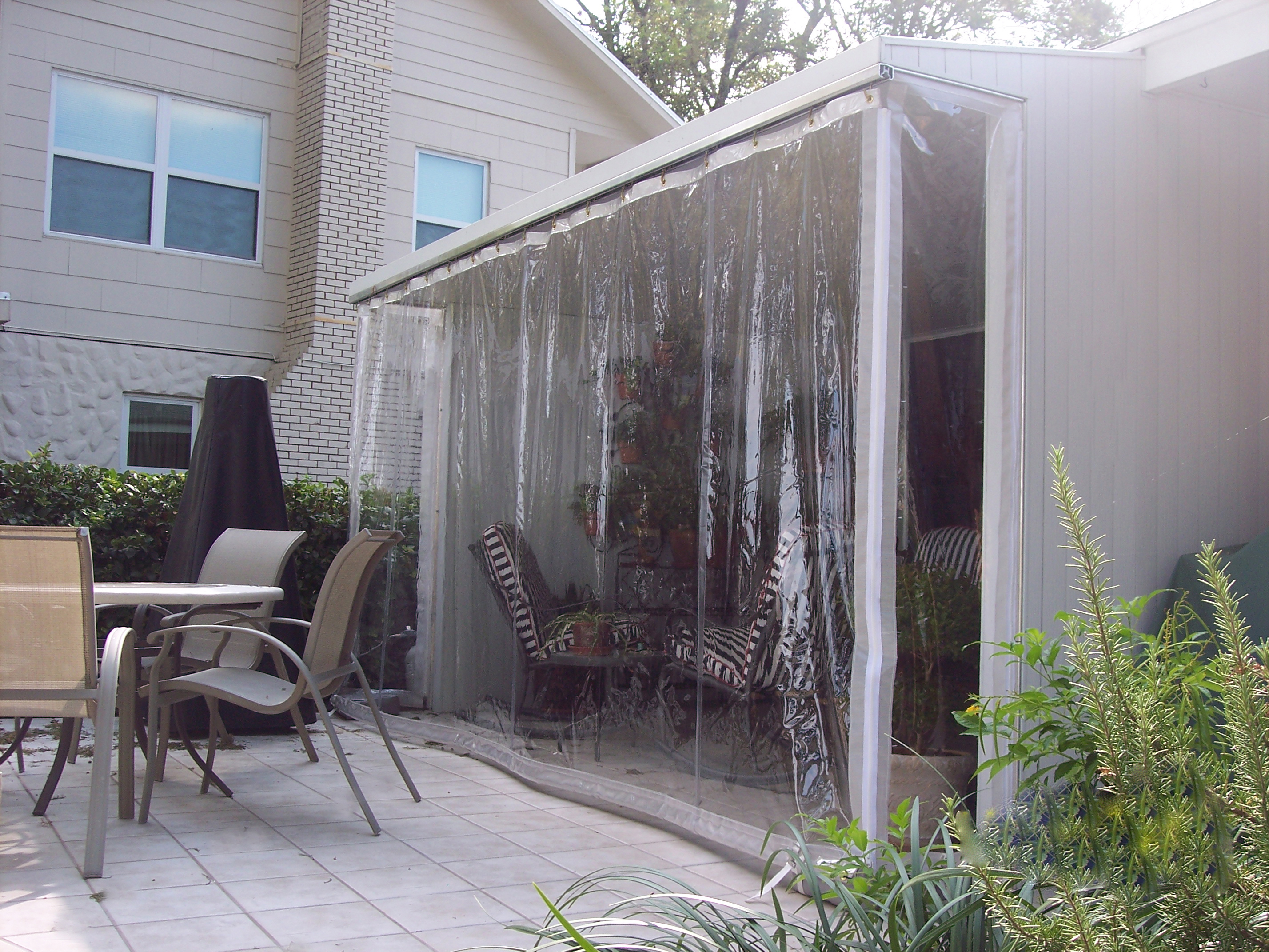 Drop Curtains Solar Screens
