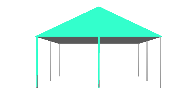 Square Tent with poles